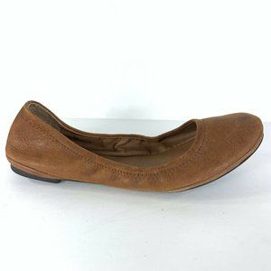 Lucky Brand Emmie Flats Bourbon Leather 7.5
